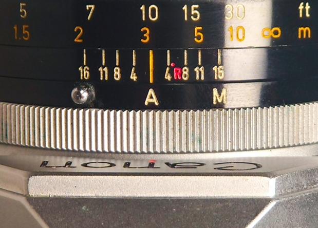 A on lens